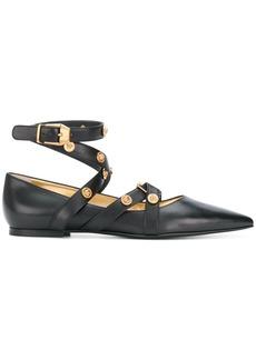 Versace Badges flat ballerina shoes