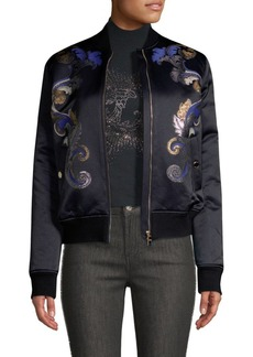 Versace Barocco Embroidery Bomber Jacket