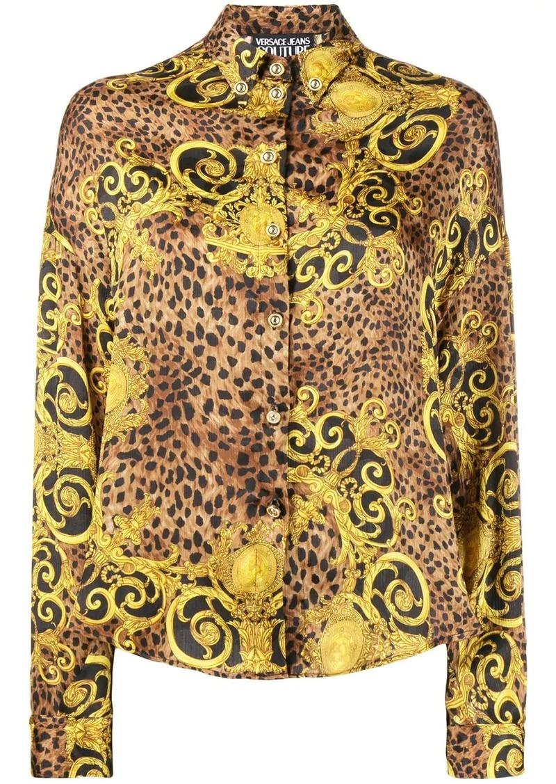Versace Barocco leopard print shirt