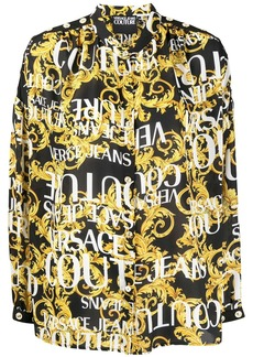 Versace Barocco logo print shirt