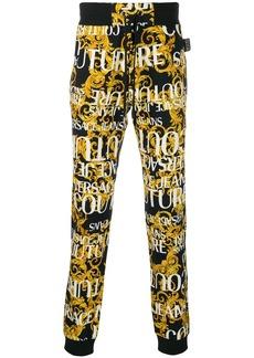 Versace Barocco logo track trousers
