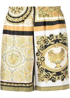 Versace Barocco Mosaic animalier short shorts