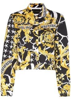 Versace Barocco print denim jacket