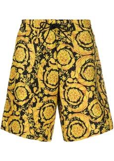 Versace Barocco-print knee-length swim shorts