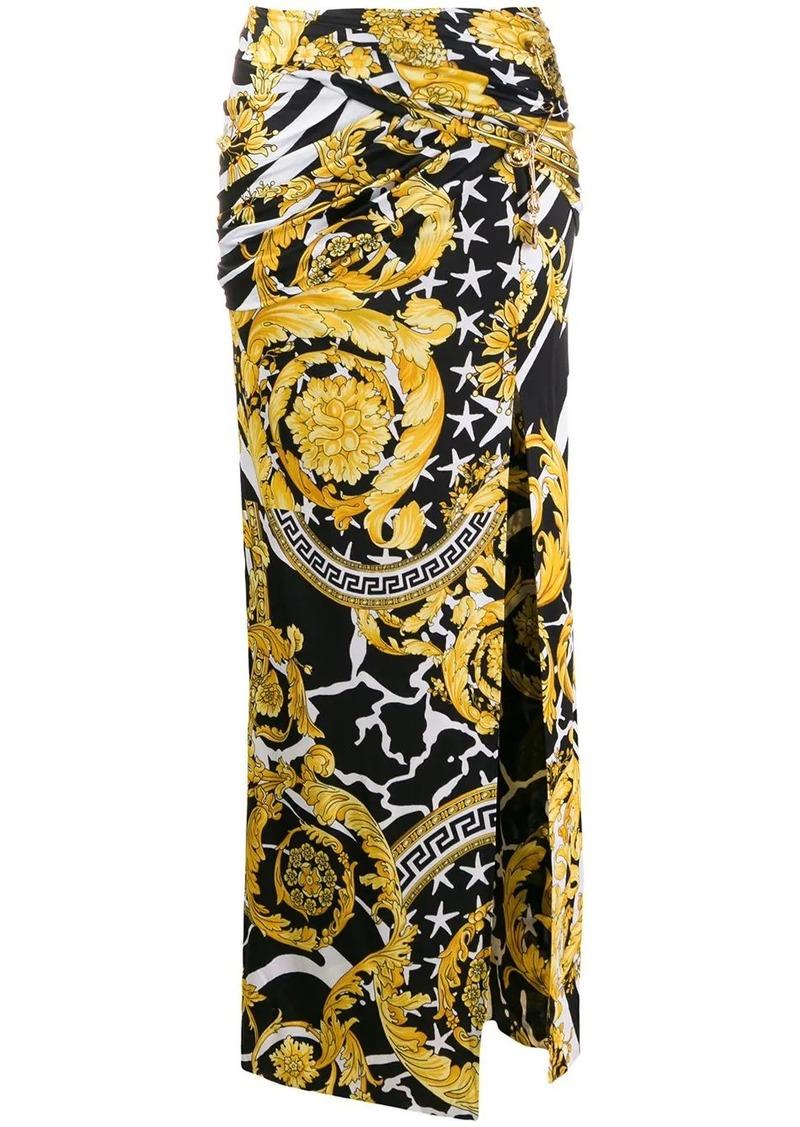 Versace barocco print long skirt