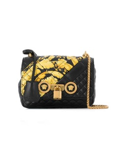 Versace Barocco print quilted shoulder bag