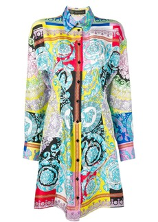 Versace Barocco print shirt dress