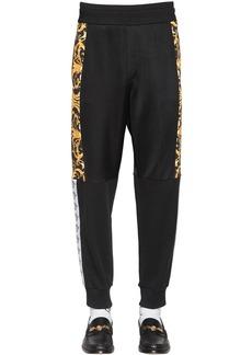 Versace Barocco Print Tech Jersey Track Pants