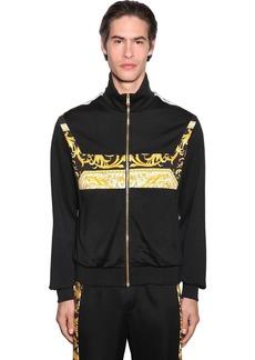Versace Barocco Print Techno Jersey Track Jacket