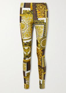 Versace Barocco Printed Stretch-jersey Leggings