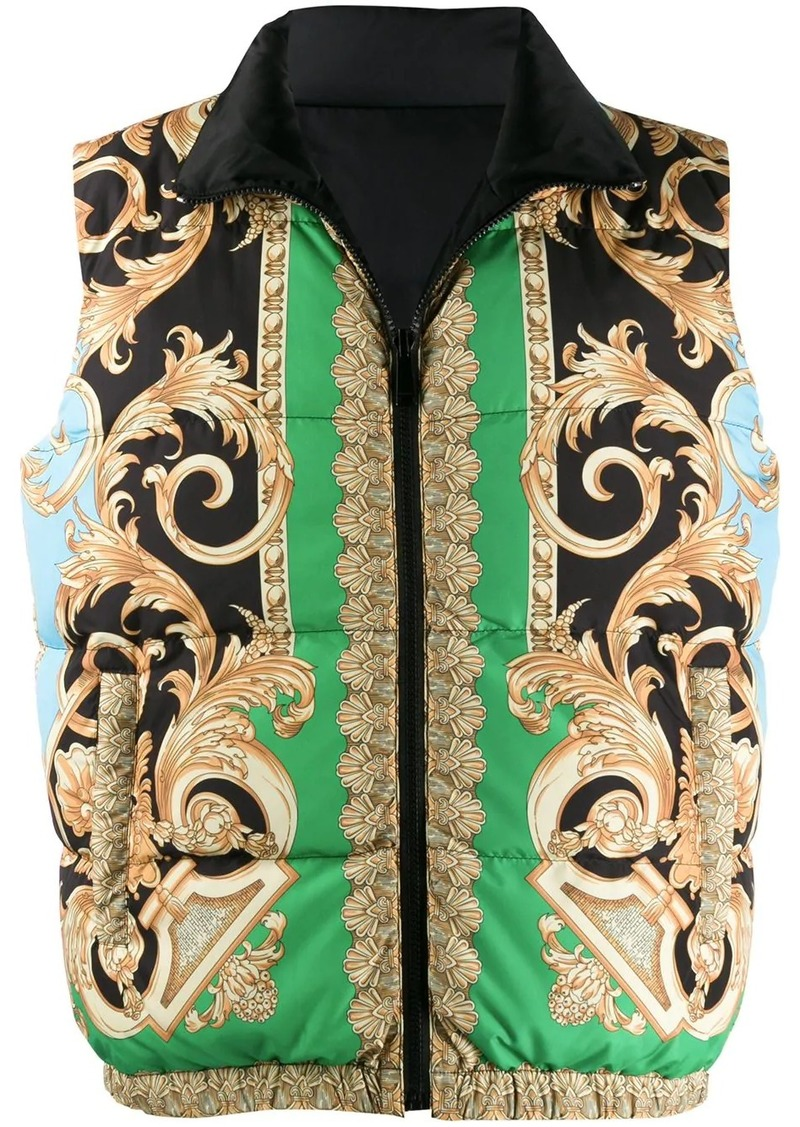 Versace Barocco puffer vest