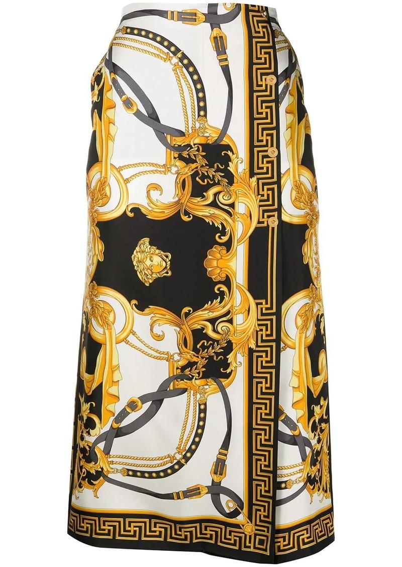 Versace Barocco Rodeo A-line skort