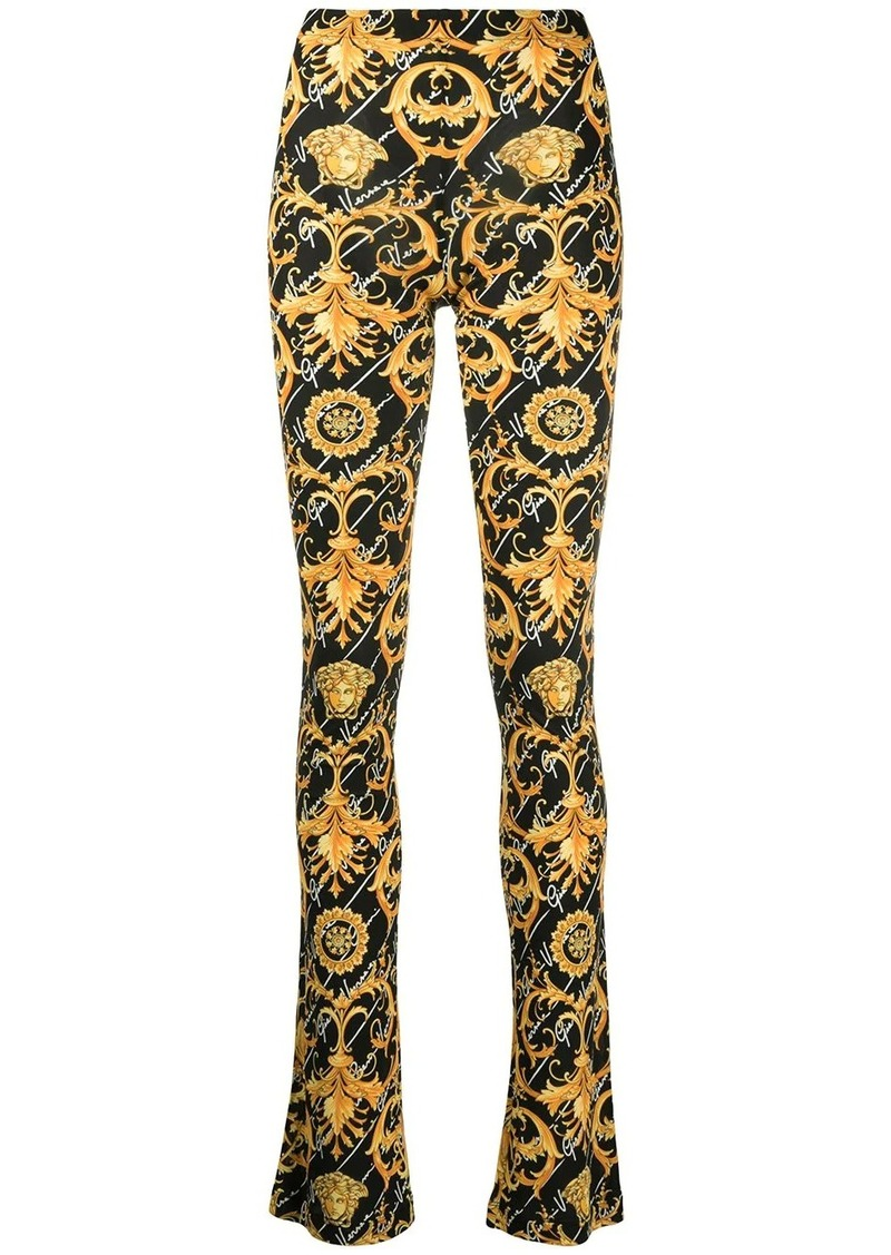 Versace Barocco Signature print flared trousers