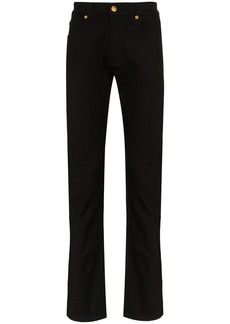 Versace baroque detail straight-leg jeans
