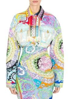 Versace Baroque Cropped Denim Jacket