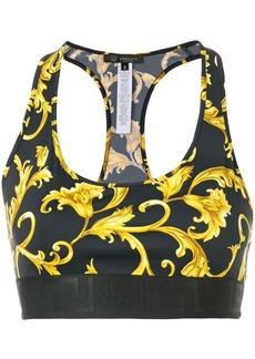Versace baroque cropped vest top