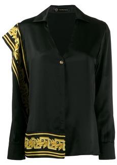 Versace Baroque detail asymmetric shirt