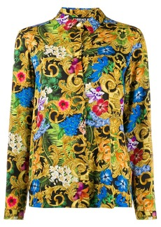 Versace Baroque floral-print shirt