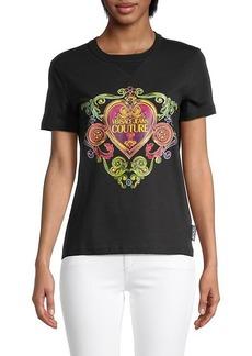 Versace Baroque Heart Logo T-Shirt