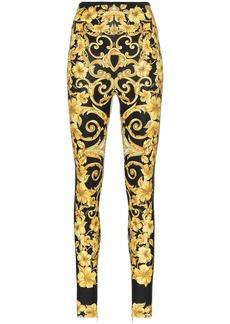 Versace Baroque high waist printed leggings