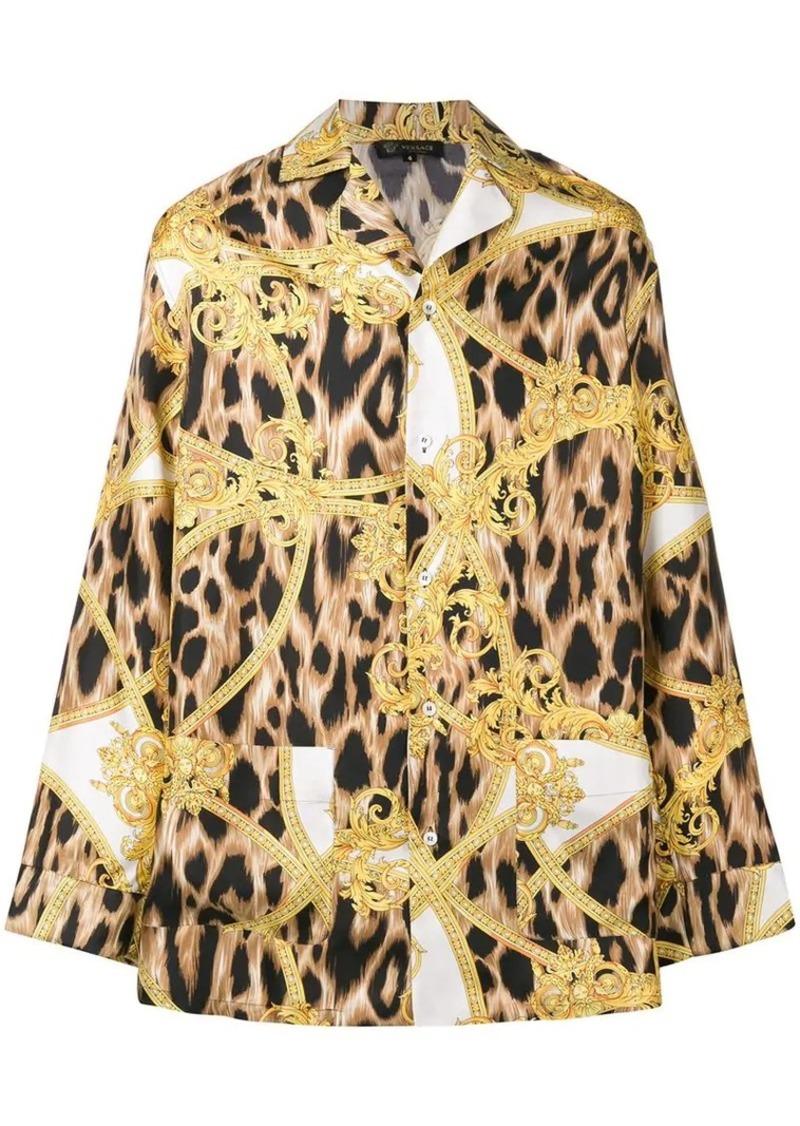 29ea837b3 Versace baroque leopard print pyjama shirt   Casual Shirts