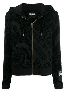 Versace baroque logo print hoodie