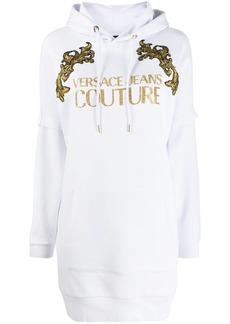 Versace Baroque longline hoodie