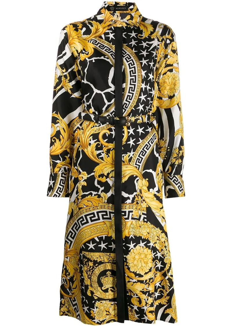 Versace baroque mid-length shirt dress