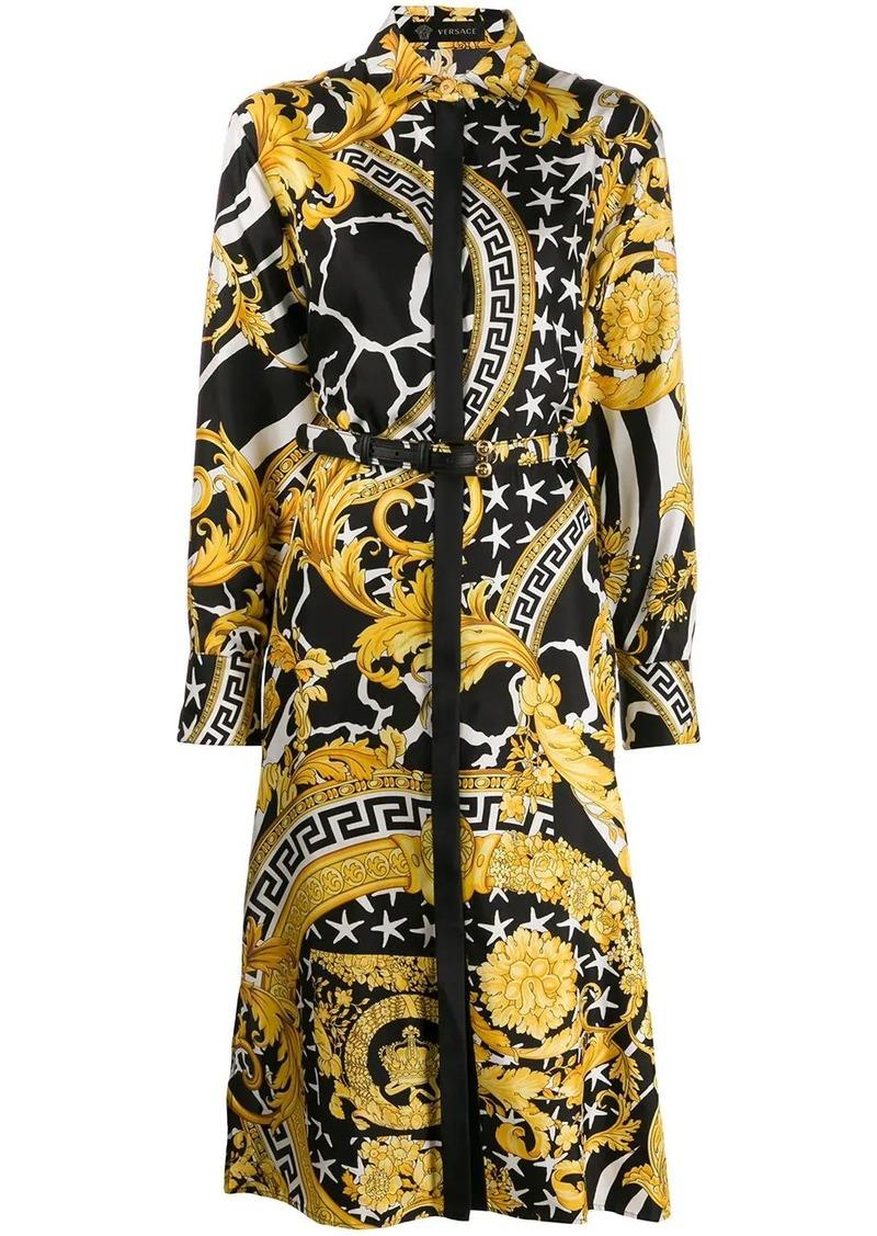 Versace baroque mid-length shirt dress
