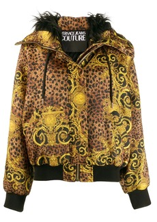 Versace Baroque pattern hooded jacket