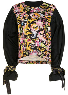 Versace baroque pattern-print sweatshirt