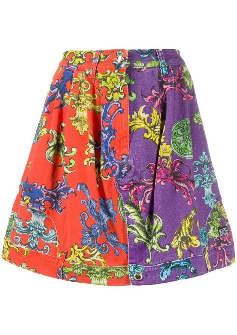 Versace Baroque pattern skirt