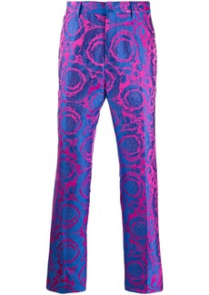 Versace baroque-patterned tailored trousers