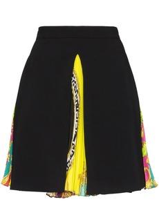 Versace Baroque pleated-panel mini-skirt