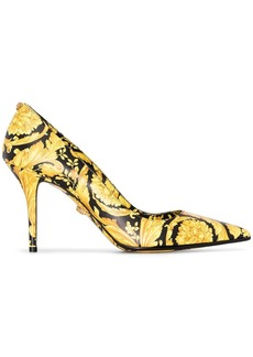Versace Baroque print 85mm pumps