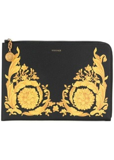 Versace Baroque-print clutch bag