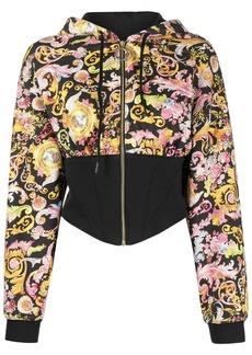 Versace baroque-print contrast hoodie