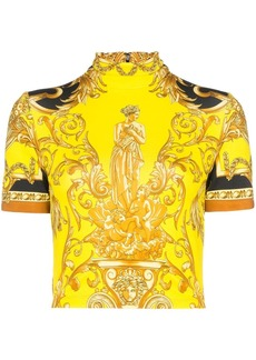 Versace Baroque print crop top