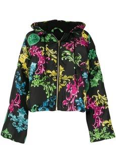 Versace baroque print cropped jacket