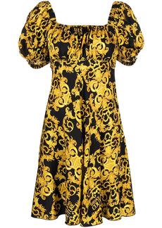 Versace baroque-print empire line dress