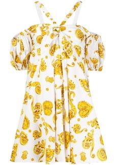 Versace baroque-print flared dress