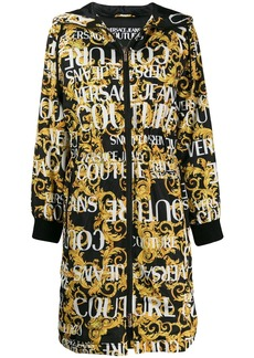 Versace baroque print hooded coat