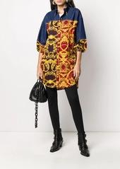 Versace baroque print long shirt