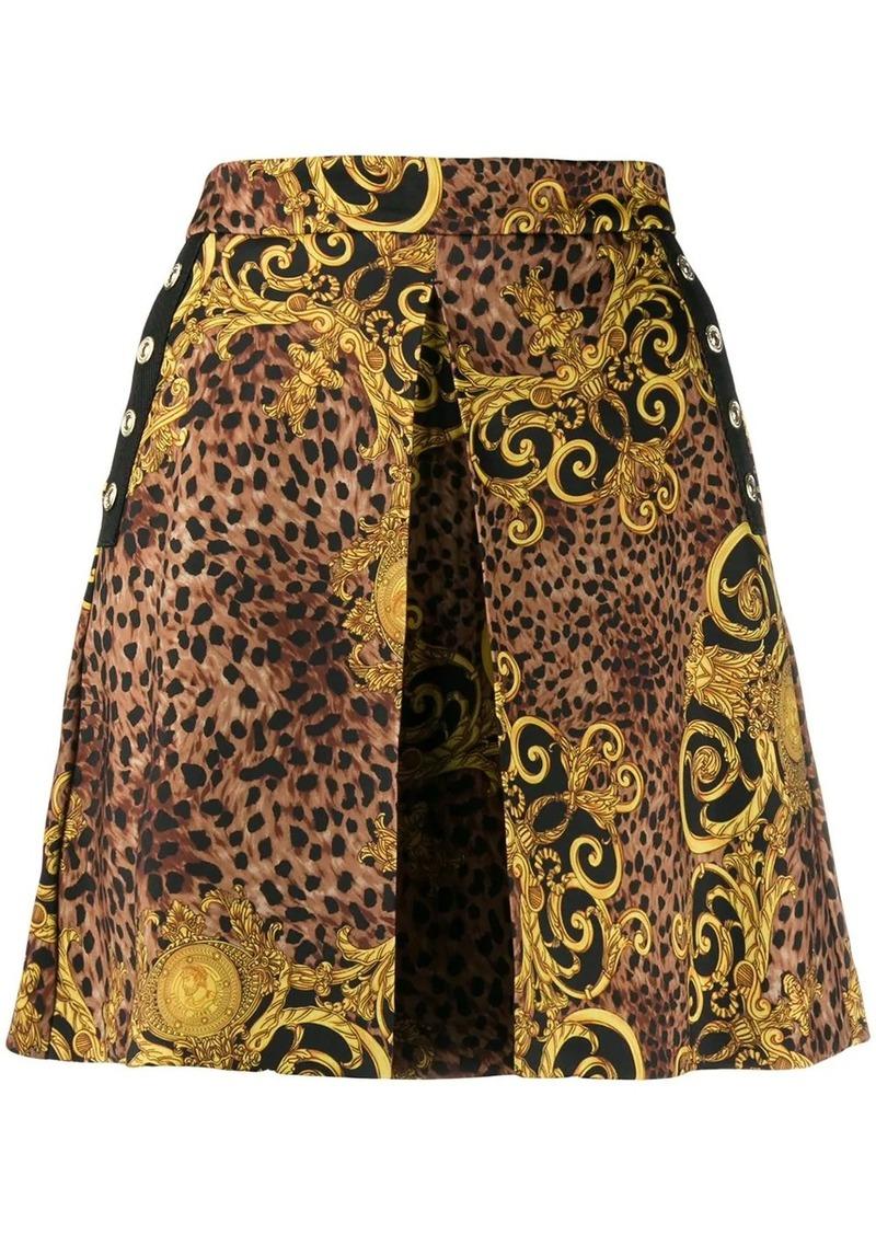 Versace baroque print mini skirt