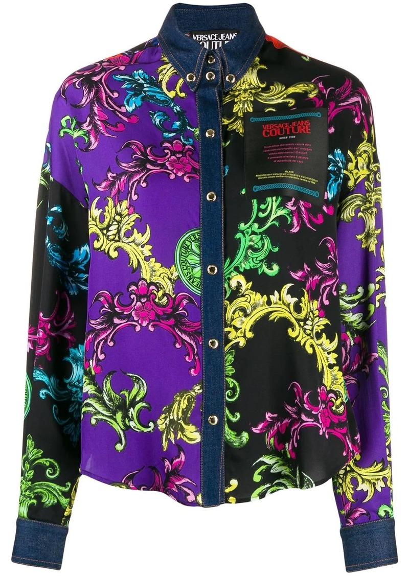 Versace Baroque-print panelled shirt