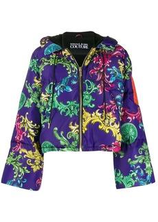 Versace baroque print puffer jacket