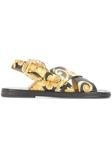 Versace baroque print sandals