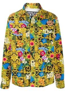 Versace baroque print shirt jacket