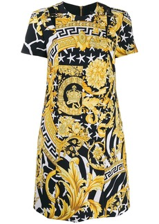 Versace baroque print short dress
