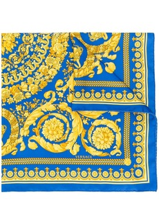 Versace Baroque print silk foulard
